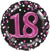 XXL Folienballon 18. Geburtstag - Sparkling Pink
