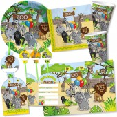 108-teiliges Set: Zoo & Zootiere