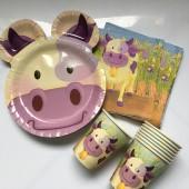 37-teiliges Spar-Set: Lustige Kuh