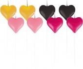 8 Mini-Figurenkerzen Herzen