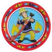 8 Teller Feuerwehrmann Sam