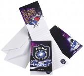 8 Einladungen + Umschläge Polizei