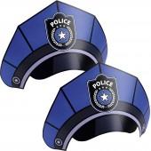 8 Partyhüte Polizei