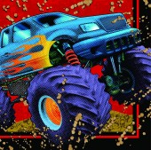 16 Servietten Monstertruck
