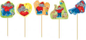 10 Cupcake Deko-Sticks - Benjamin Blümchen