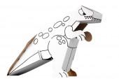 Bastelset & Malvorlage Dinosaurier / T-Rex
