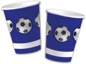 10 Becher Fußball - Blau