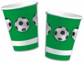 10 Becher Fußball - Grün