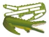6 Einladungskarten Krokodil