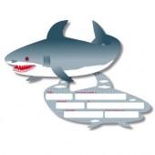 6 Einladungen in Haifischform