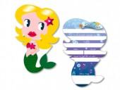 6 Einladungskarten Meerjungfrau