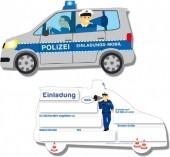 6 Einladungskarten Polizei