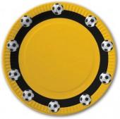 10 Teller Fußball - Gelb
