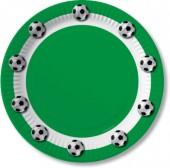 10 Teller Fußball - Grün