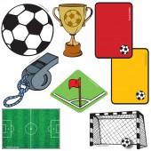 24-teiliges XXL Konfetti Fussball-Stadion