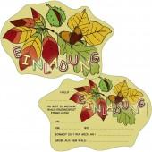 6 Einladungskarten Wald