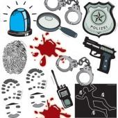 XXL Konfetti Polizei