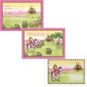 6 Einladungskarten + Umschläge Prinzessin