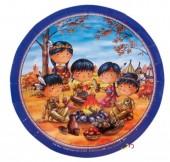 6 Teller Indianer