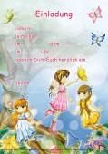 12 Einladungen + Umschläge DIN A5 Feen / Elfen