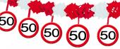 4m Girlande 50. Geburtstag