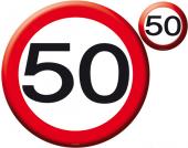 4 Platzsets 50. Geburtstag