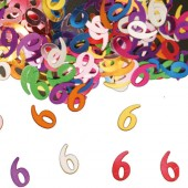 Konfetti für den 6. Geburtstag