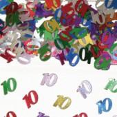 Konfetti für den 10. Geburtstag