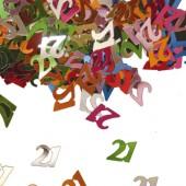 Konfetti für den 21. Geburtstag