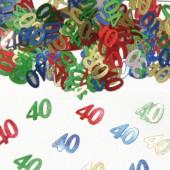 Konfetti für den 40. Geburtstag