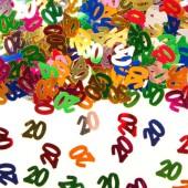Konfetti für den 20. Geburtstag
