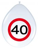 8 Luftballons 40. Geburtstag