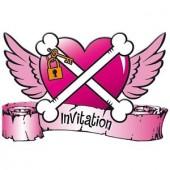 8 Einladungen + Umschläge Piraten - Pirate Girl
