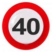 8 Teller 40. Geburtstag