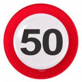 8 Teller 50. Geburtstag