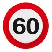 8 Teller 60. Geburtstag