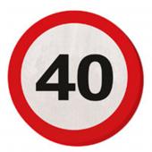 20 Servietten 40. Geburtstag