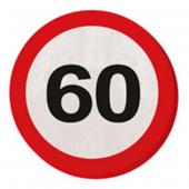 20 Servietten 60. Geburtstag