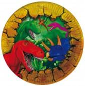 6 Teller Dinos und T-Rex