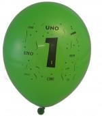 10 Luftballons Zahl 1