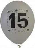 10 Luftballons Zahl 15