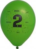 10 Luftballons Zahl 2