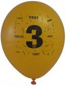 10 Luftballons Zahl 3