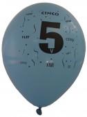 10 Luftballons Zahl 5