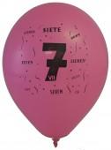 10 Luftballons Zahl 7