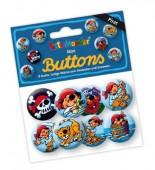 "8 Mini Buttons ""Pirat Pit Planke"""
