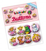 "8 Mini Buttons ""Prinzessin"""