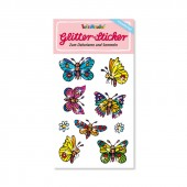 Schmetterlinge Glitter Sticker