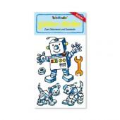 Roboter Glitter Sticker