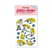 Einhorn Glitter Sticker